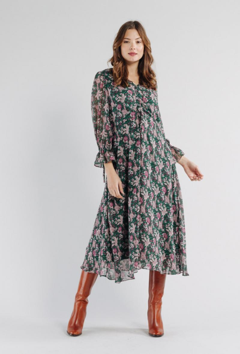Abito midi in stampa floreale <br />(<strong>Artlove</strong>)
