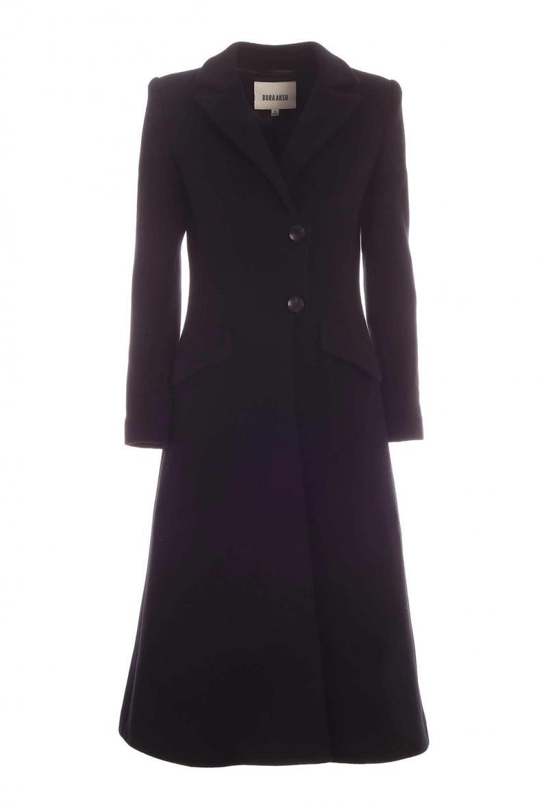 Cappotto lungo monopetto nero Nero
