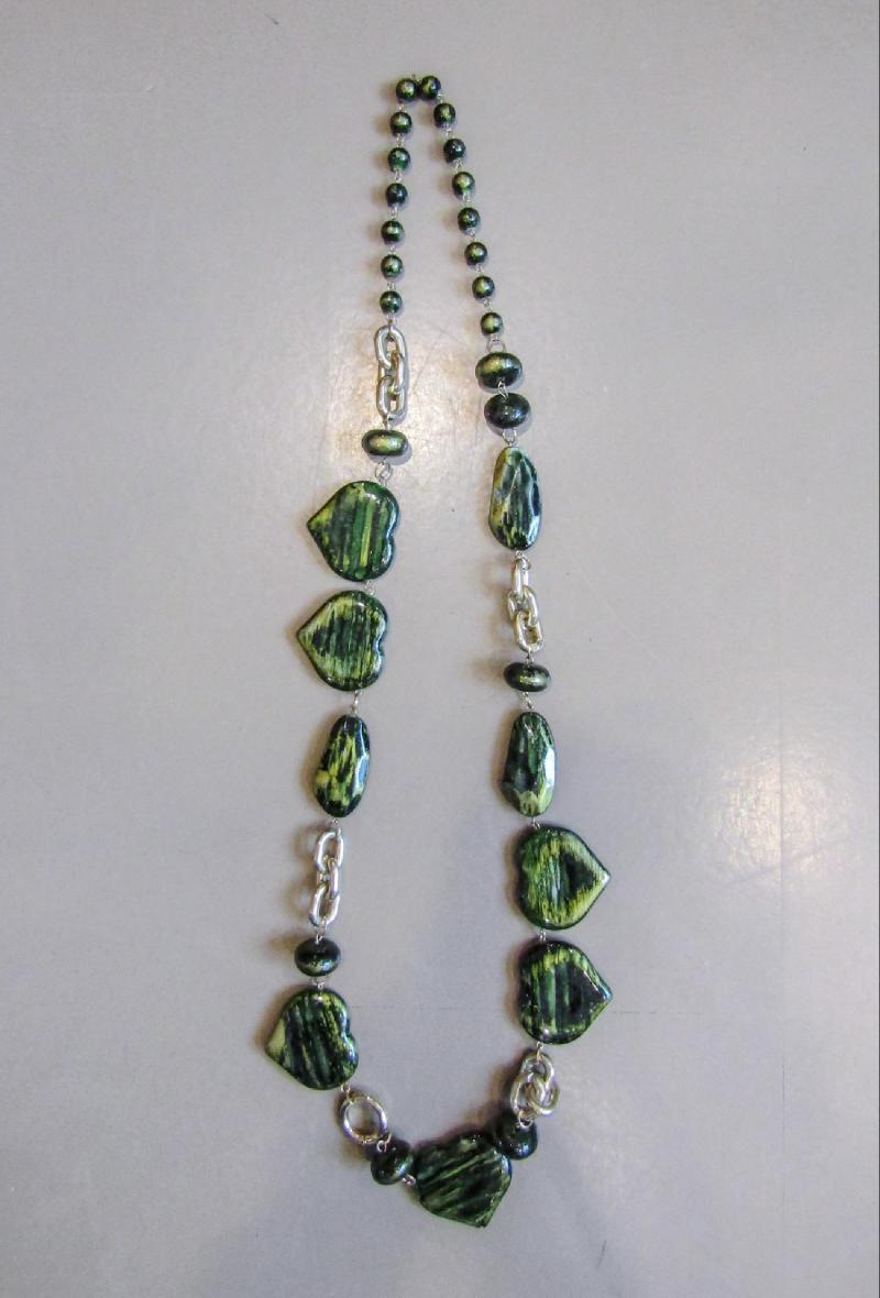 collana con cuori Verde