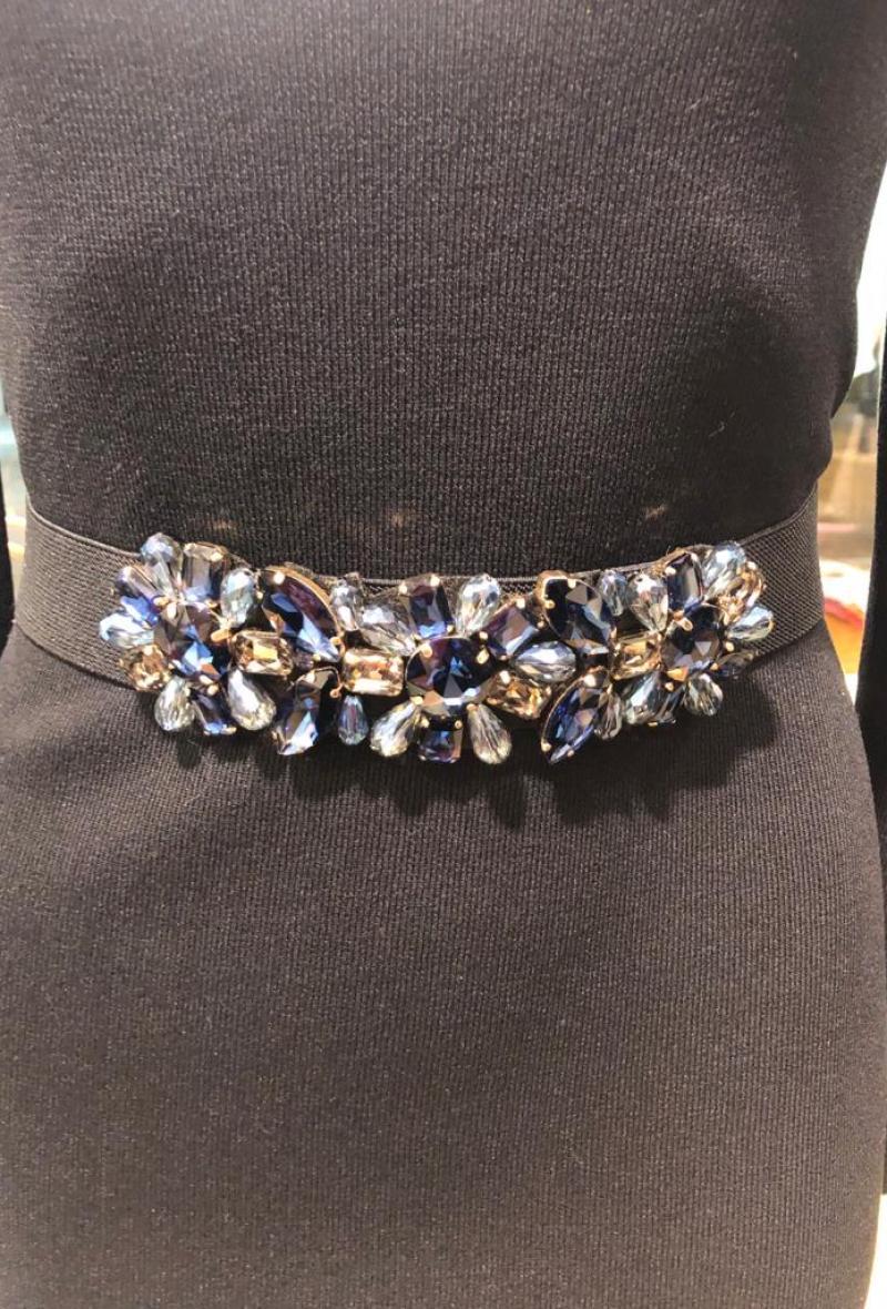 cintura elastica con pietre Blu<br />(<strong>Canonica 63</strong>)