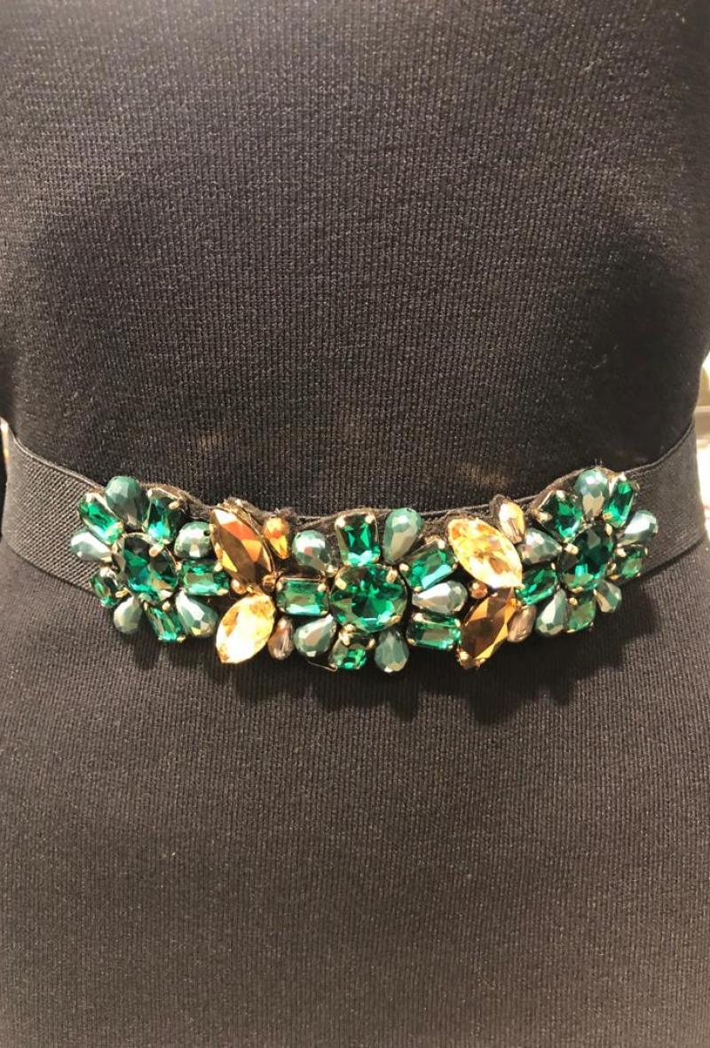 cintura elastica con pietre Verde<br />(<strong>Canonica 63</strong>)