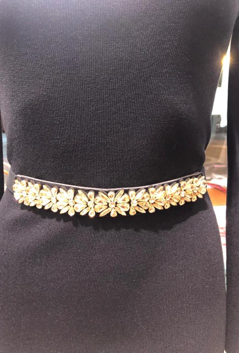 cintura elastica con pietre Ambra<br />(<strong>Canonica 63</strong>)