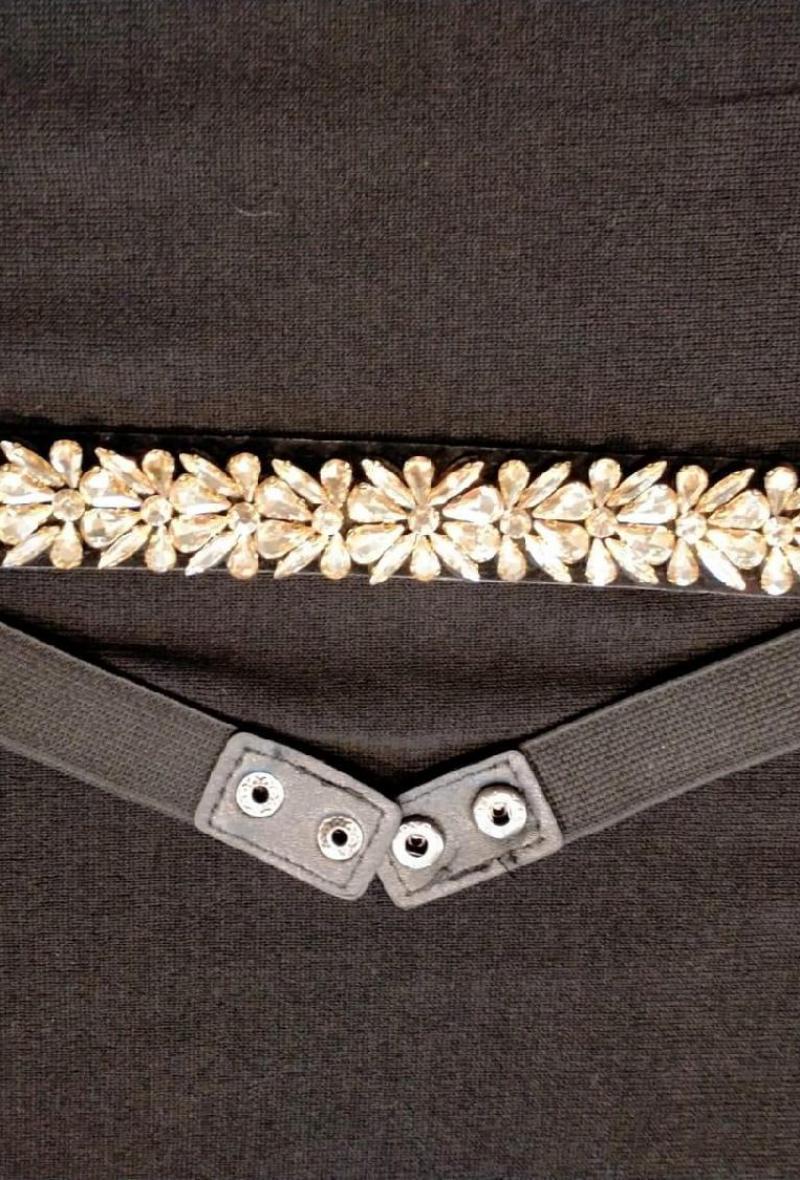 cintura elastica con pietre Giallo paglierino<br />(<strong>Canonica 63</strong>)