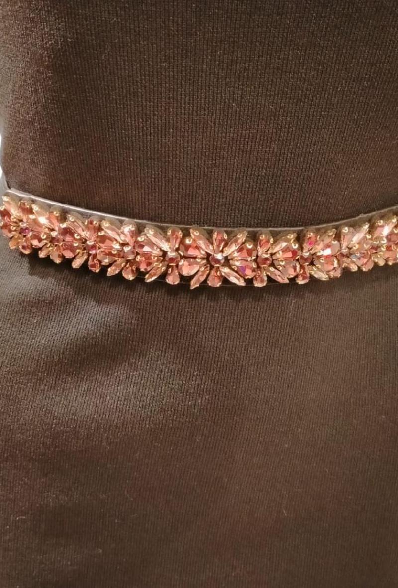cintura elastica con pietre Rosa<br />(<strong>Canonica 63</strong>)
