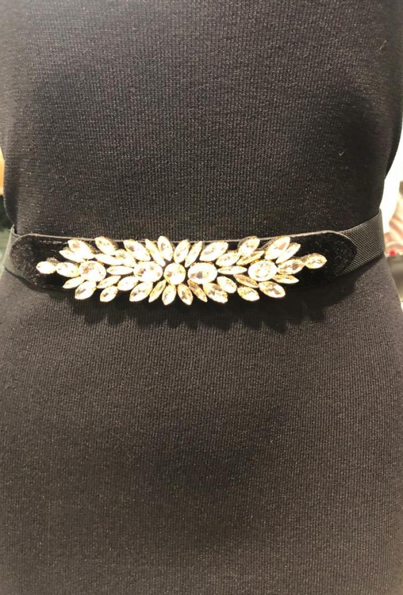cintura elastica con pietre Transparent<br />(<strong>Canonica 63</strong>)