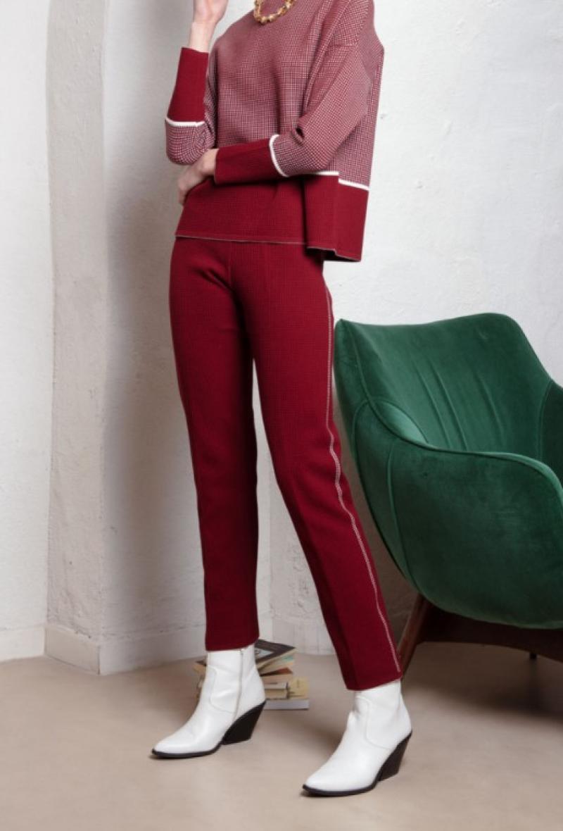 Pantaloni in maglia di viscosa Bordeaux<br />(<strong>Neera 20.52</strong>)