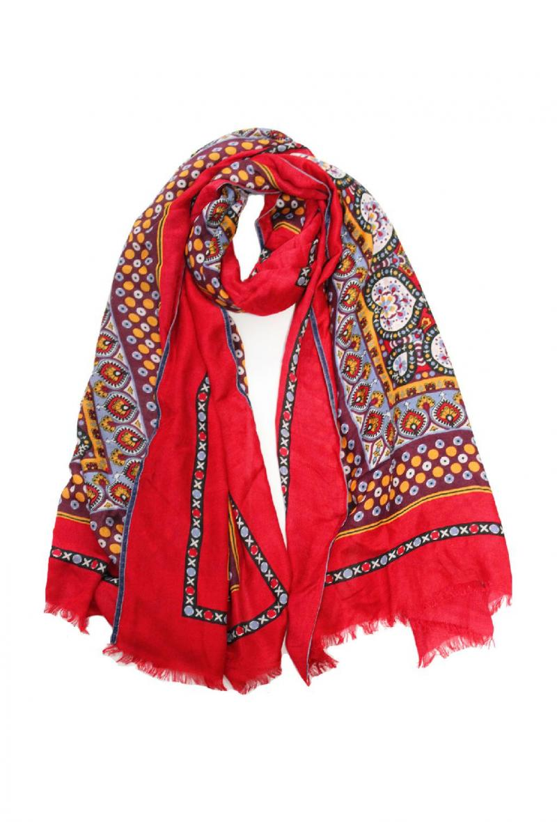 Sciarpa cm100x200 stampa foulard Rosso<br />(<strong>Ordito</strong>)