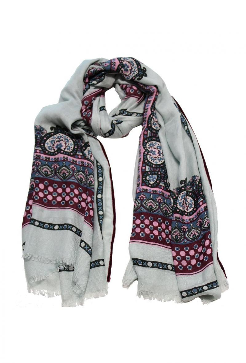 Sciarpa cm100x200 stampa foulard Argento<br />(<strong>Ordito</strong>)