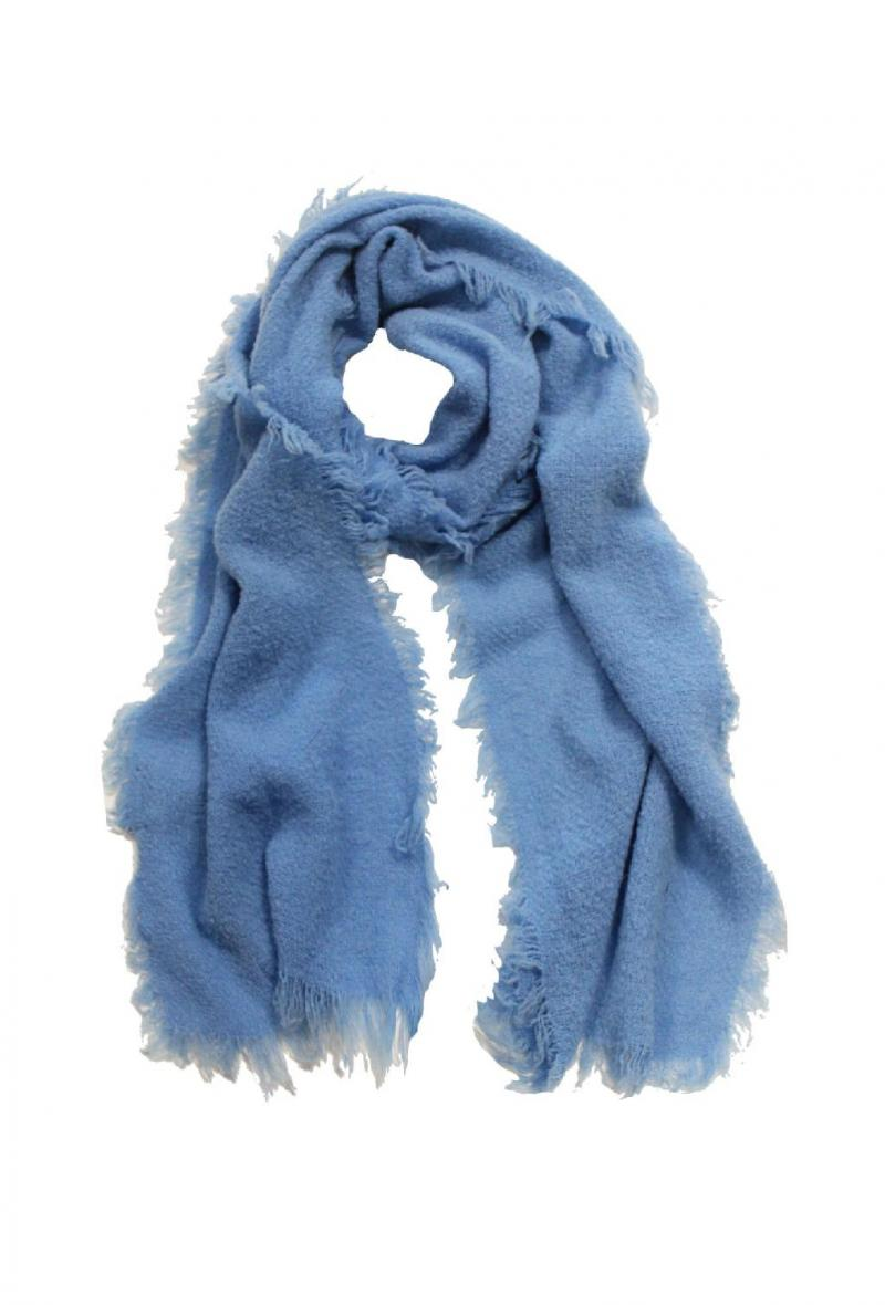 Sciarpa azzurra sfrangiata cm 30 x190 <br />(<strong>Ordito</strong>)