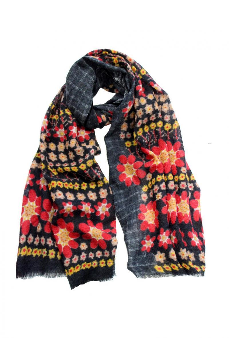 Sciarpa cm 95 x180 in lana bollita Rosso