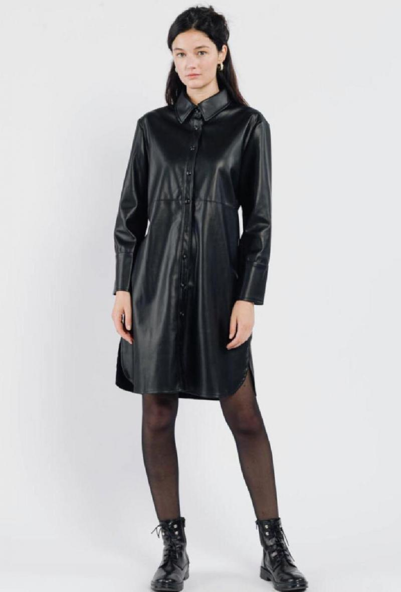 Caban in ecopelle Nero<br />(<strong>Sweewe</strong>)