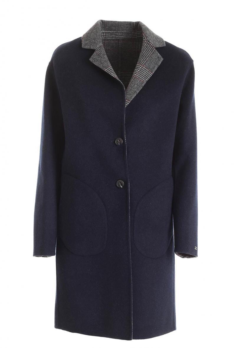 Cappotto monopetto Tommy H. reversibile Blu/galles