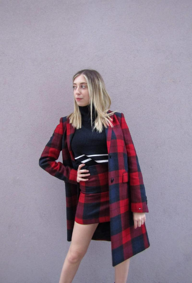 Cappotto check rosso Tommy Hilfiger Rosso<br />(<strong>Tommy hilfiger</strong>)