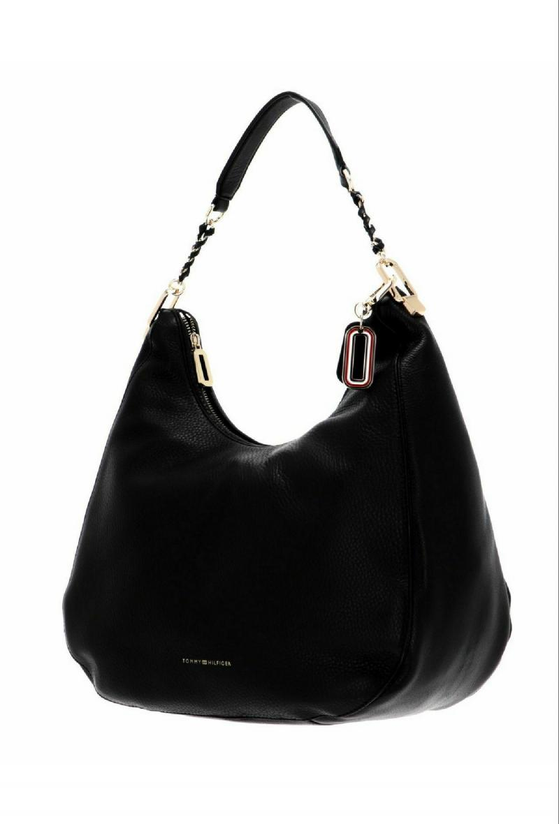soft turnlock hobo Nero<br />(<strong>Tommy hilfiger</strong>)
