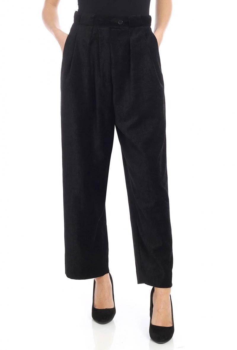 Pantalone nero Mcq in velluto armaturato <br />(<strong>Mcq</strong>)