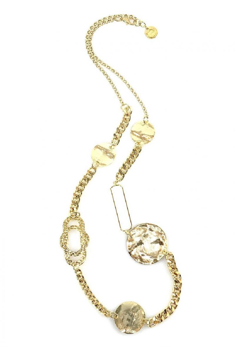 Collana a catene con dettagli geometrici Oro<br />(<strong>Canonica 63</strong>)