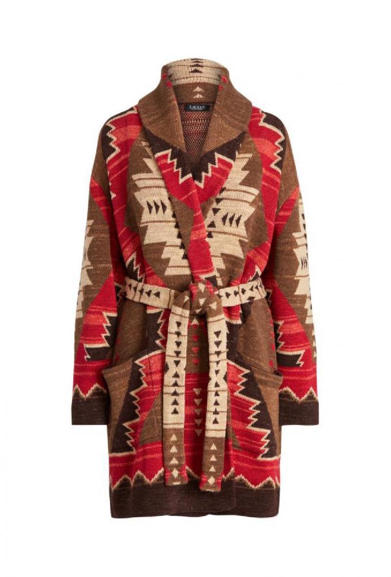 Cardigan western in maglia a intarsi Multicolor<br />(<strong>Lauren ralph lauren</strong>)