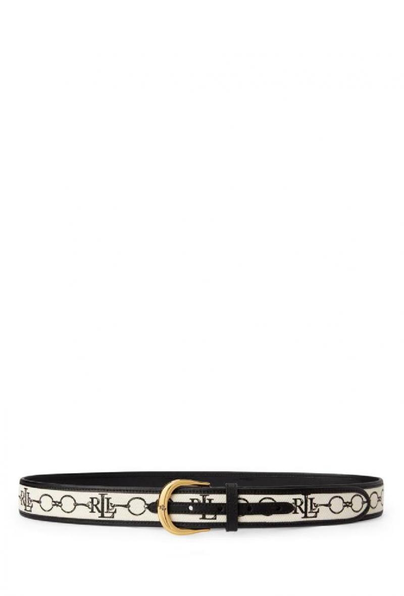 Cintura in tela stampata Bianca e nera<br />(<strong>Lauren ralph lauren</strong>)