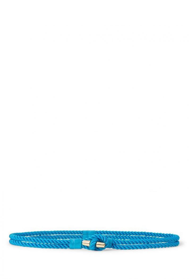 Cintura in nylon e pelle effetto corda Azzurra<br />(<strong>Lauren ralph lauren</strong>)