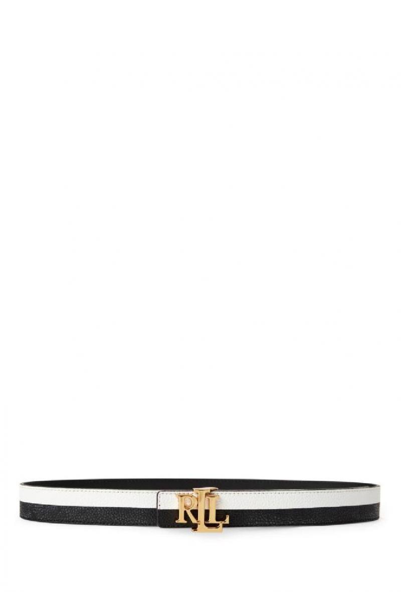 Cintura in pelle reversibile Bianco/nero<br />(<strong>Lauren ralph lauren</strong>)