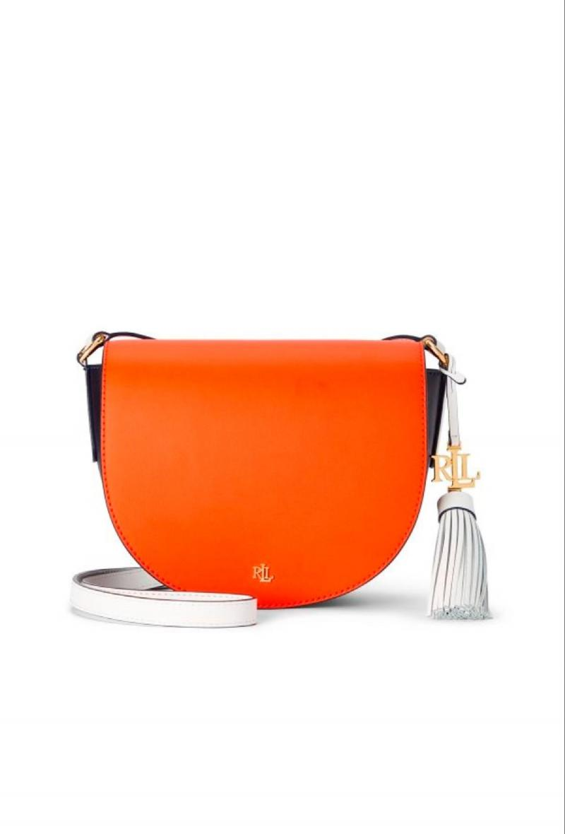 Borsa modello Witley 20 Arancio/blu/bianco<br />(<strong>Lauren ralph lauren</strong>)