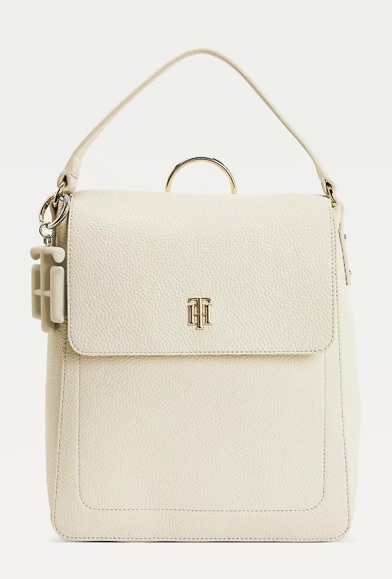 Zaino con charm monogram Beige<br />(<strong>Tommy hilfiger</strong>)