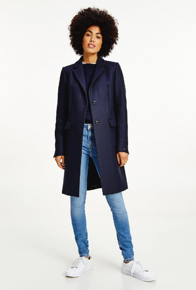 Cappotto classico monopetto Blu<br />(<strong>Tommy hilfiger</strong>)