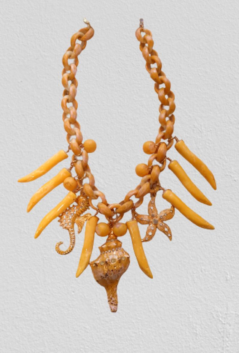 Collana con ciondoli marini Giallo<br />(<strong>Canonica 63</strong>)