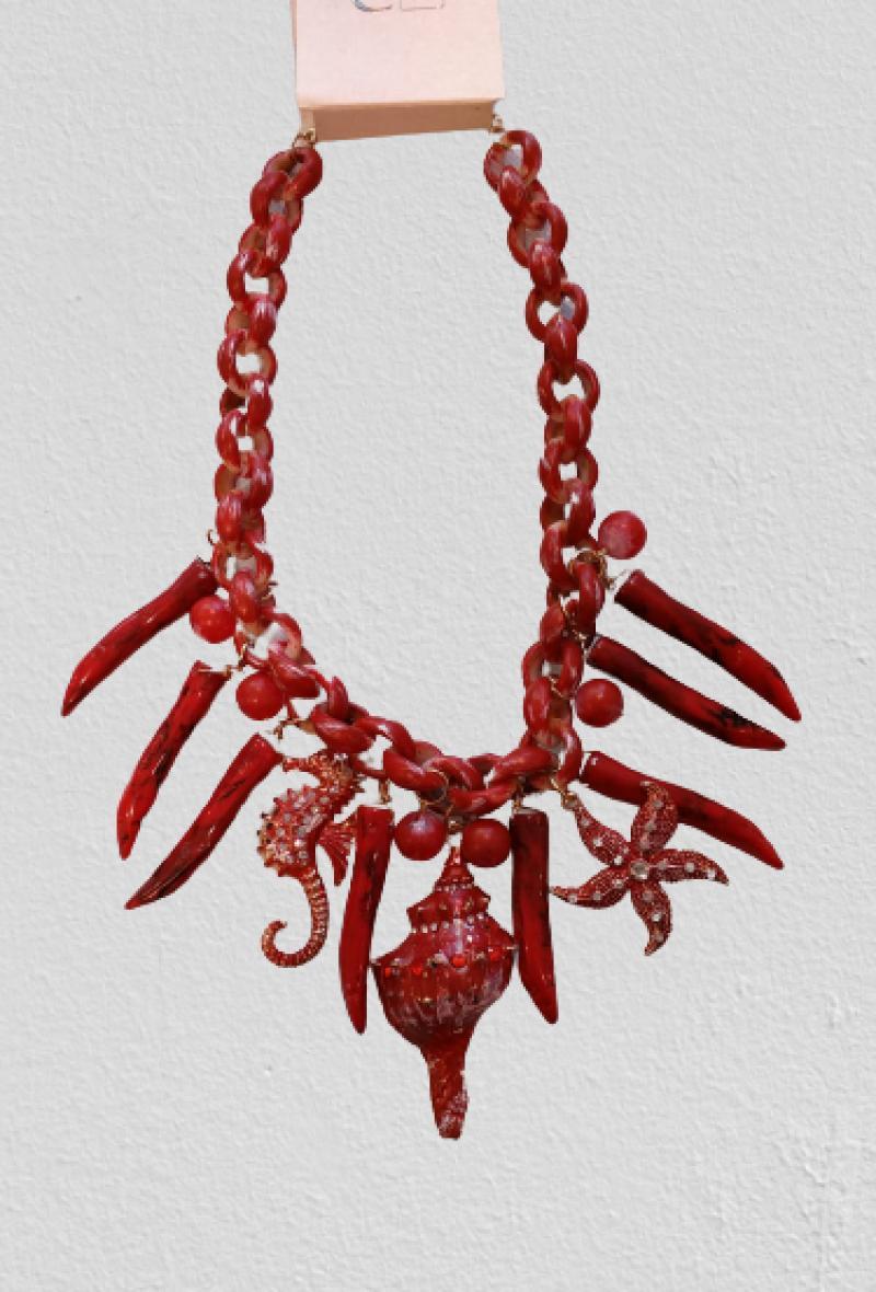 Collana con ciondoli marini Rosso<br />(<strong>Canonica 63</strong>)
