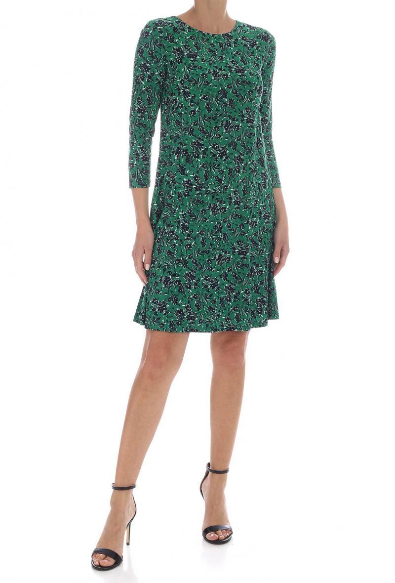Abito L.Ralph Lauren verde stampa floreale Fantasia