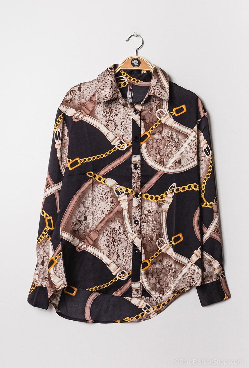 Camicia stampa equestre Nero<br />(<strong>By swan</strong>)