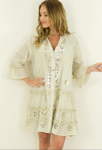 Mini abito fresco in cotone