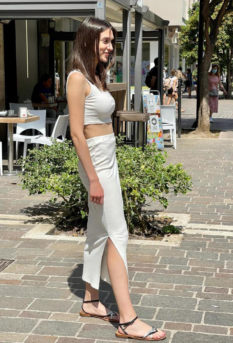 Completo gonna e top aderente Bianco<br />(<strong>Elle style</strong>)