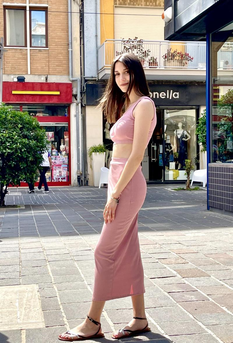 Completo gonna e top aderente Rosa<br />(<strong>Elle style</strong>)