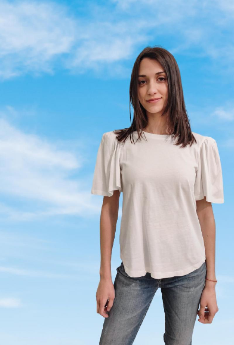 t shirt con maniche a sbuffo Bianco<br />(<strong>Jijil</strong>)