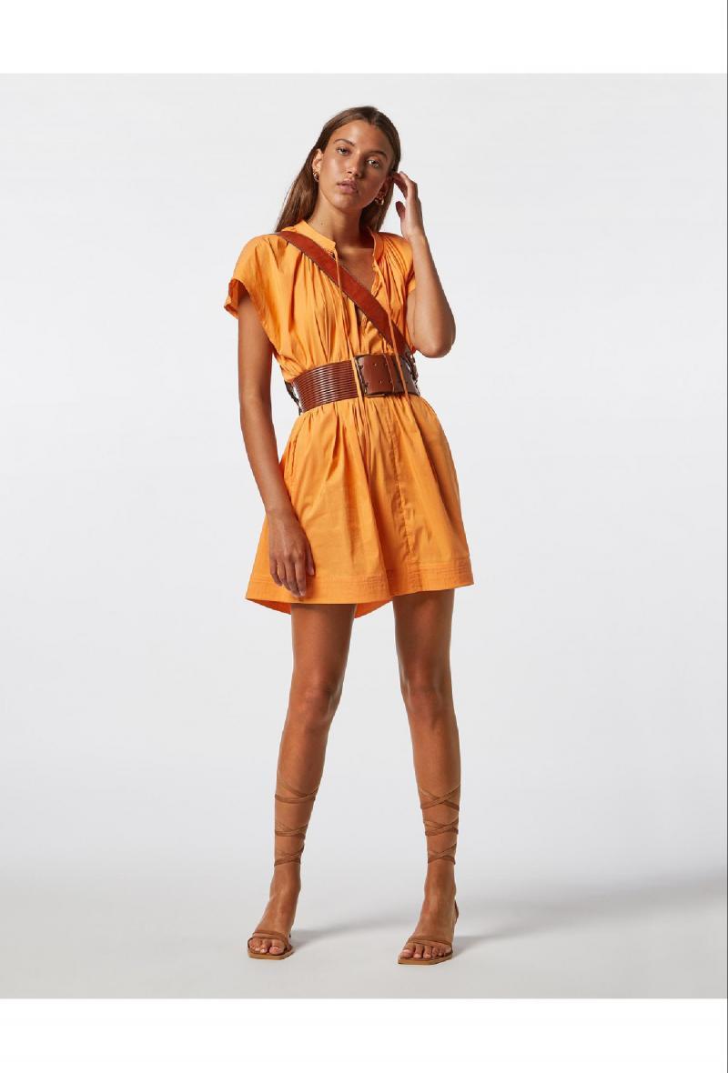 Abito ampio in misto cotone Arancio<br />(<strong>Jijil</strong>)