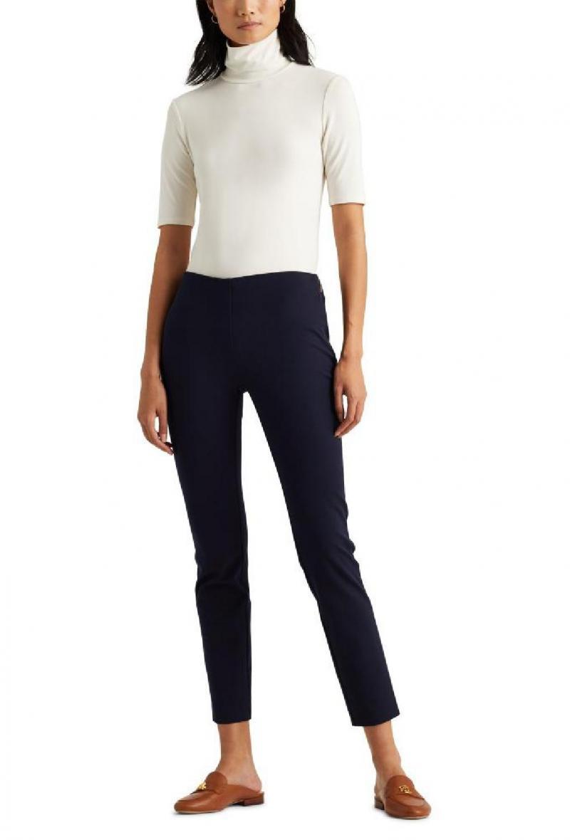 pantaloni skinny in cotone elasticizzato Blu