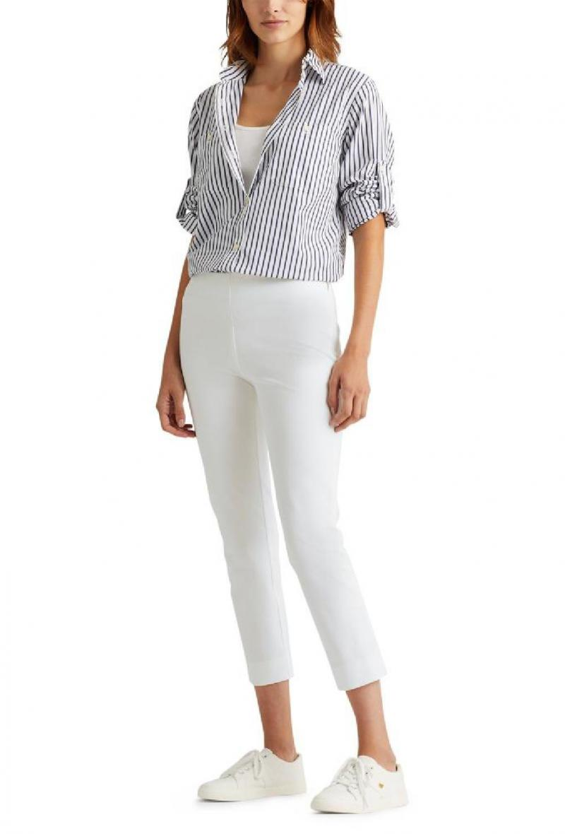 pantalone capri Lauren Ralph Lauren Bianco