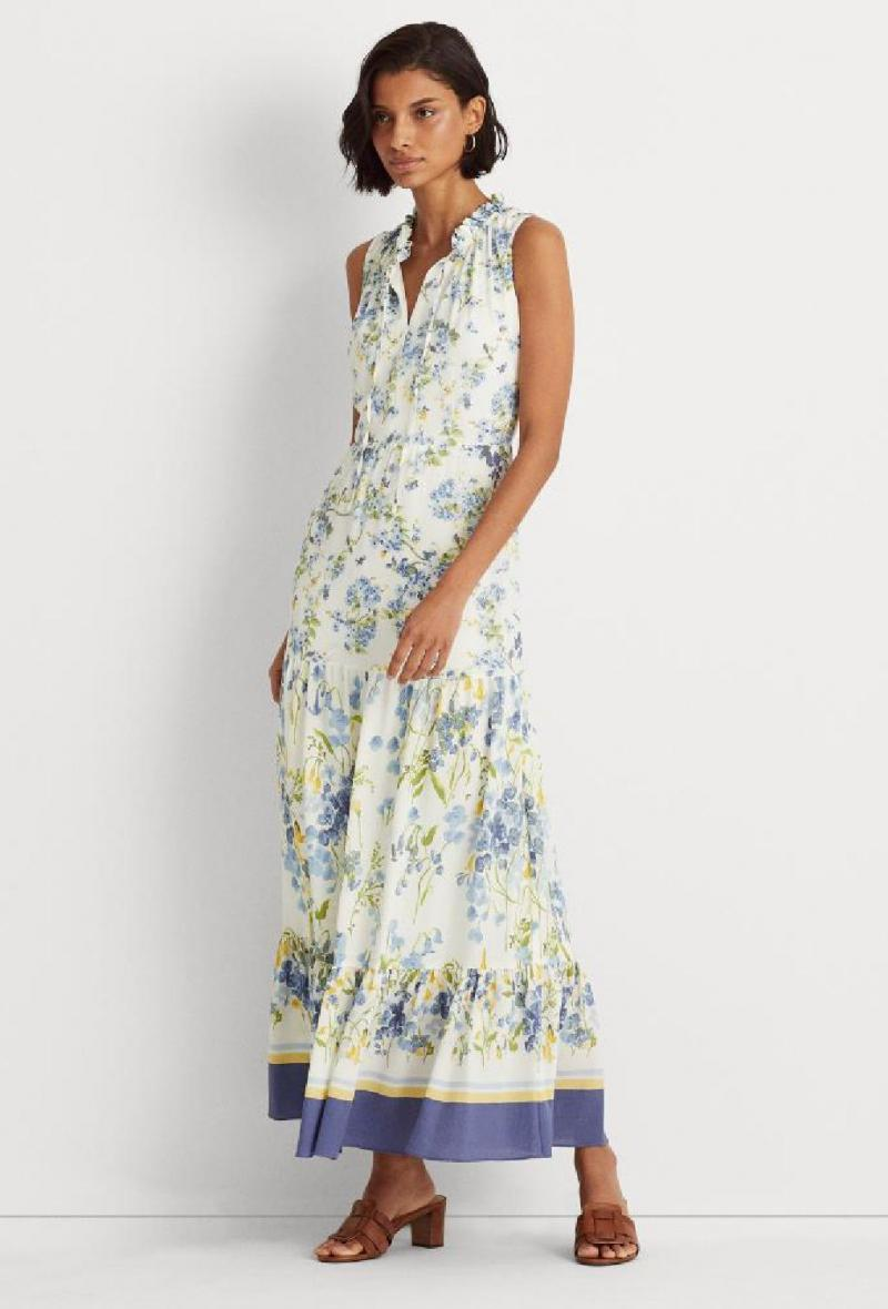 Maxidress in stampa floreale