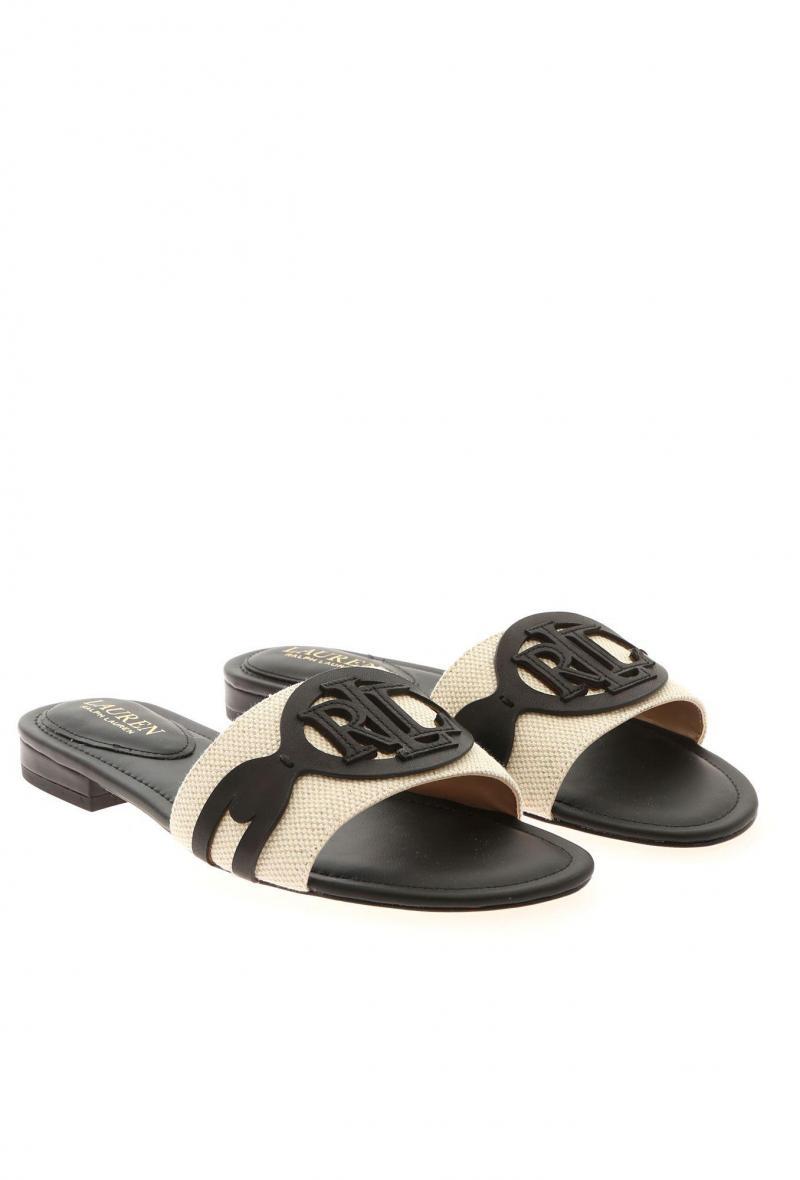 alegra sandals casual Avorio/nero<br />(<strong>Lauren ralph lauren</strong>)