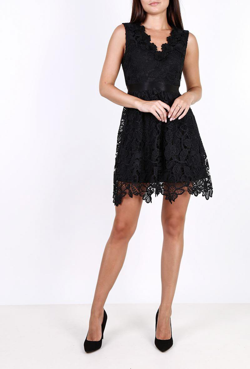 Abito corto in pizzo Nero<br />(<strong>Lily mcbee</strong>)