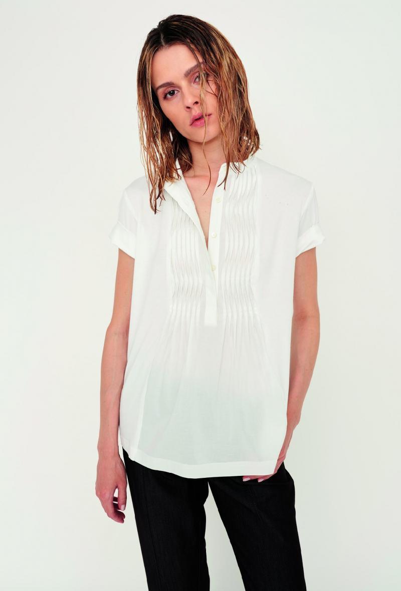 T-shirt con pieghe plissettate sul davanti Bianco<br />(<strong>Nenè</strong>)