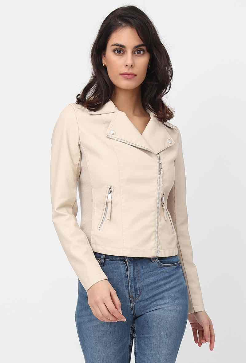 Biker jacket Beige<br />(<strong>Softy</strong>)