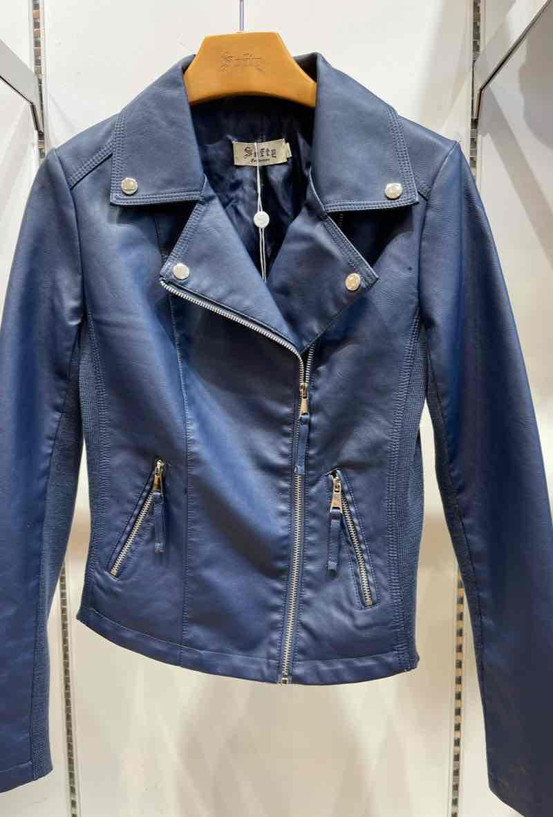 Biker jacket Blu<br />(<strong>Softy</strong>)