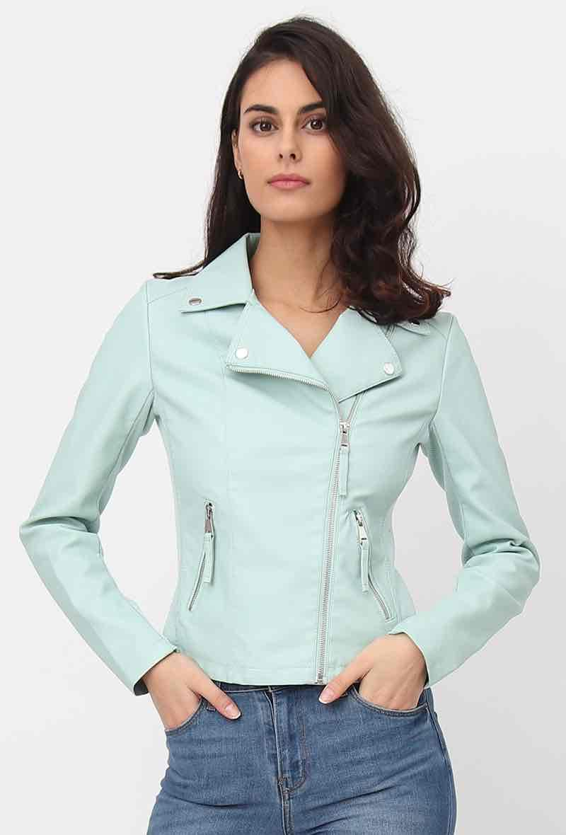 Biker jacket Verde acqua<br />(<strong>Softy</strong>)