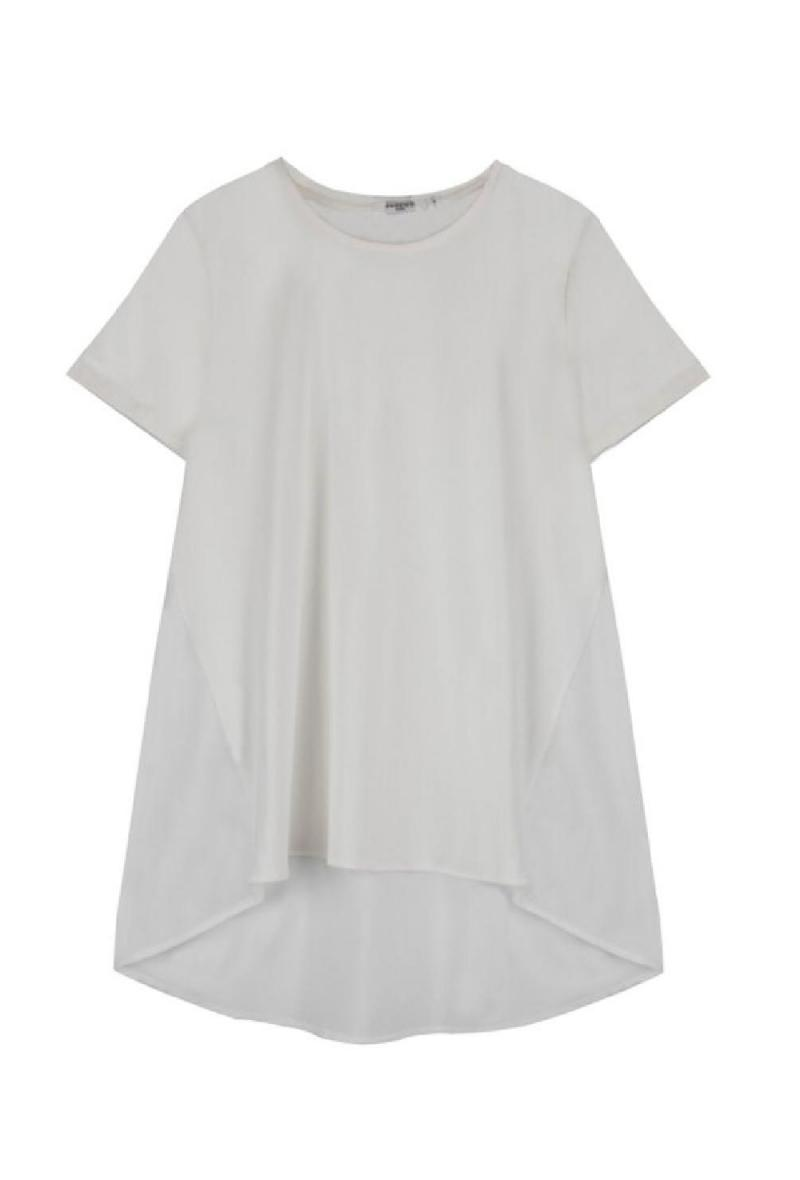 T shirt svasata in jersey e cotone Bianco<br />(<strong>Sweewe</strong>)