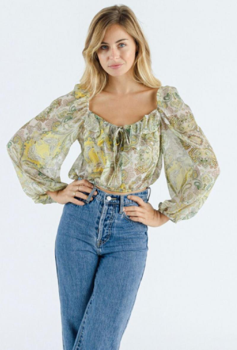 Camicia corta disegno cashmere Verde<br />(<strong>Sweewe</strong>)
