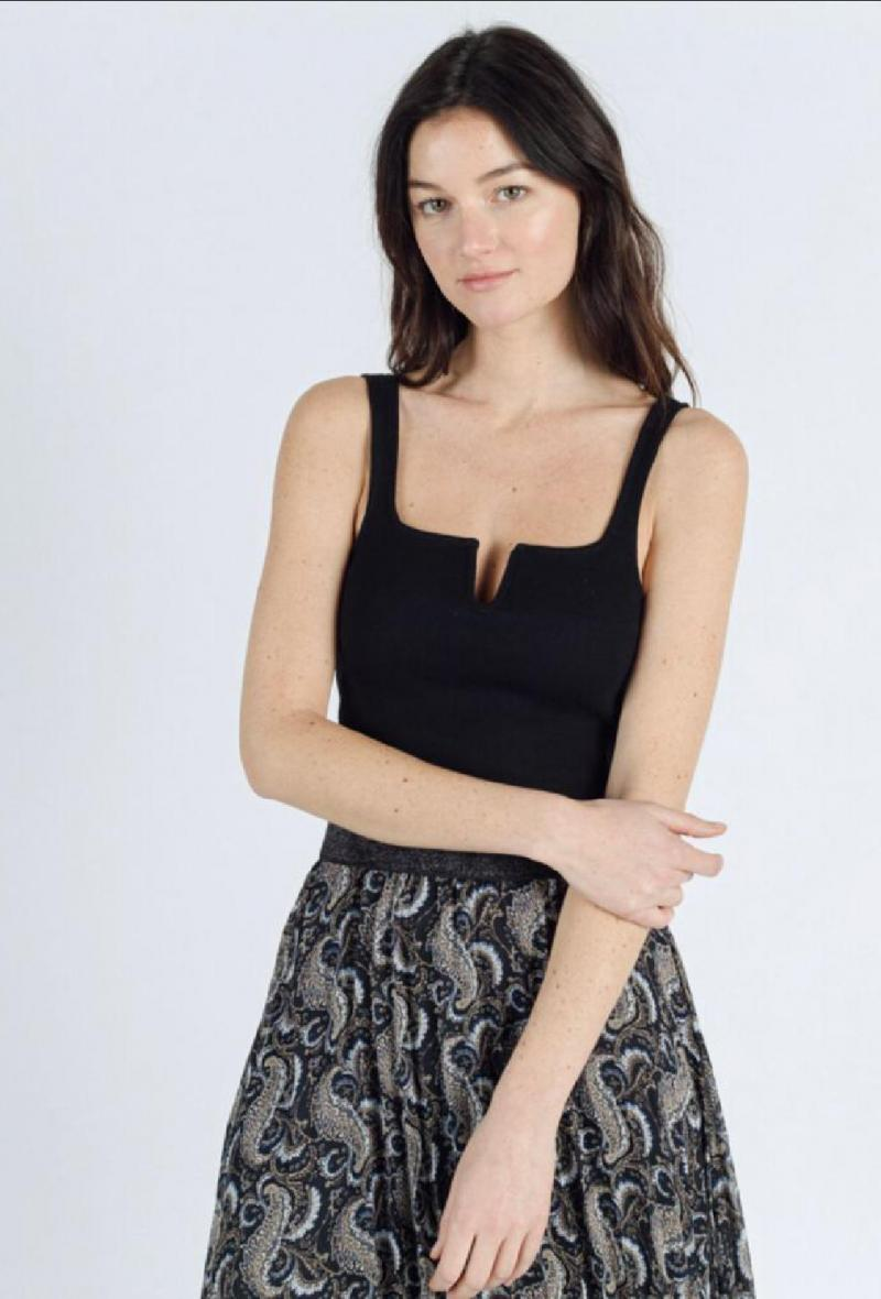 Top a bustier con spalline Nero<br />(<strong>Sweewe</strong>)