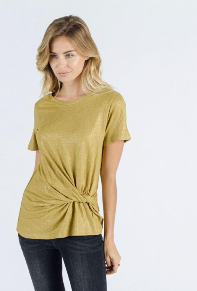 T shirt in lurex Oliva<br />(<strong>Sweewe</strong>)