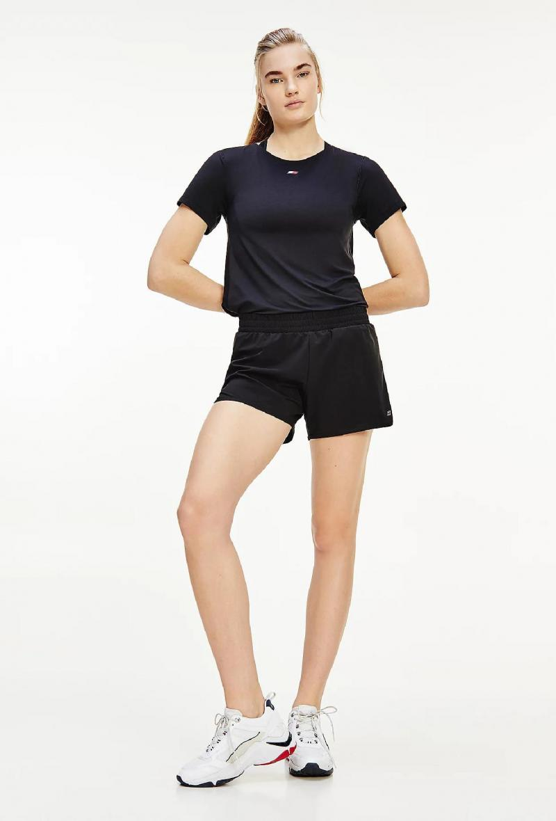 Short in tessuto strech a 4 direzioni Nero<br />(<strong>Tommy hilfiger</strong>)